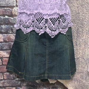 Baccini Blue Jean Skirt Size 12